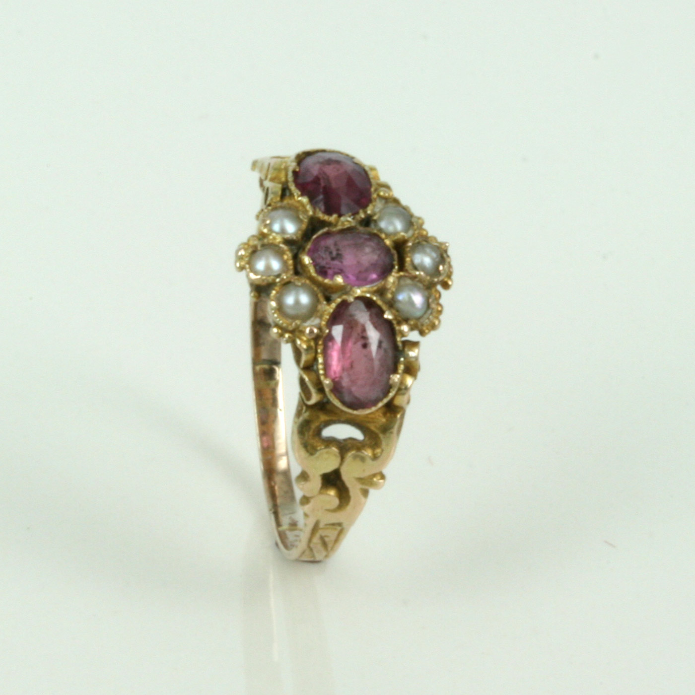 Buy 12ct Antique Garnet Amp Pearl Ring Sold Items Sold