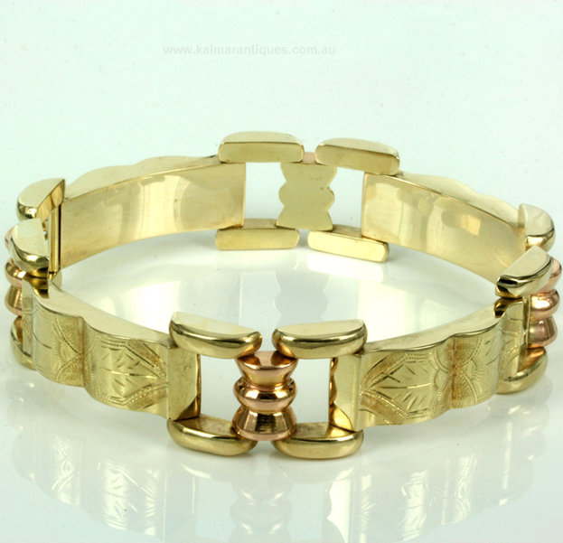 14ct yellow- and rose-gold Austrian-bracelet