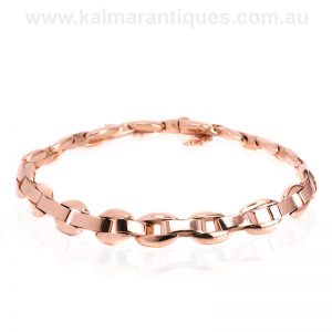 15 carat rose gold bracelet from the 1920's Art Deco era