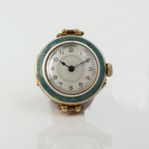 18ct enamelled ladies watch made in 1911
