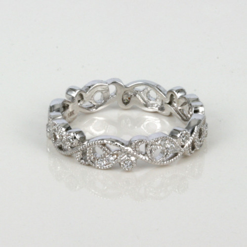 Diamond eternity ring with 24 diamonds