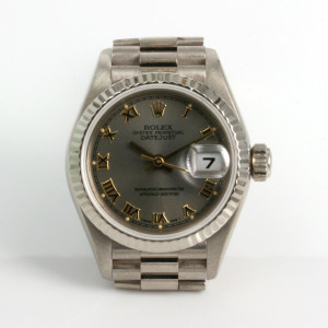 18ct white gold ladies Rolex model 79179