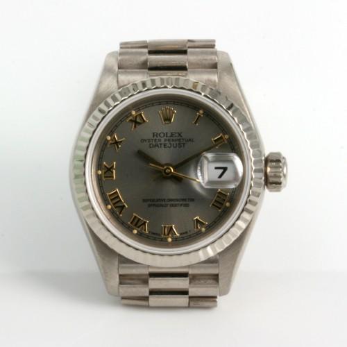 18ct white gold ladies Rolex model 79179