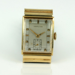 18ct Hamilton watch circa 1954