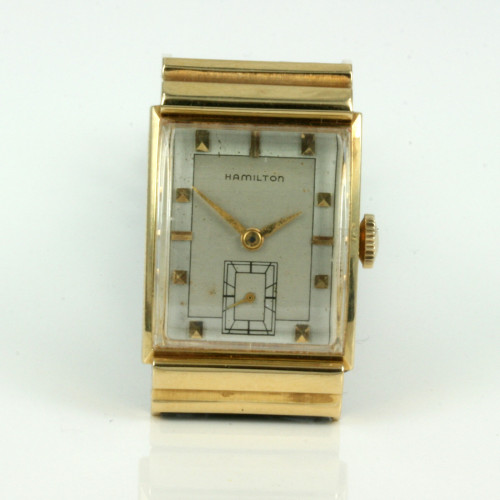 18ct Hamilton watch circa 1954