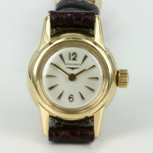 18ct ladies automatic Longines watch.