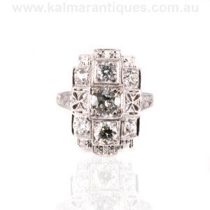 Platinum 1920's era Art Deco diamond ring