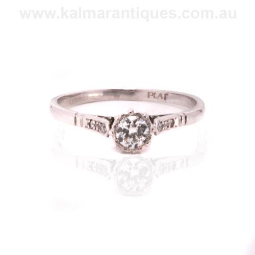 1930's Art Deco diamond engagement ring