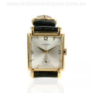 Vintage 18ct Cartier watch from the 1930's
