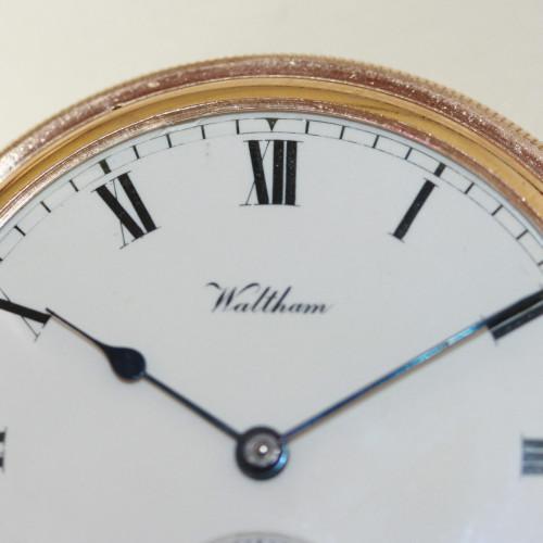 9ct Waltham pocket watch.