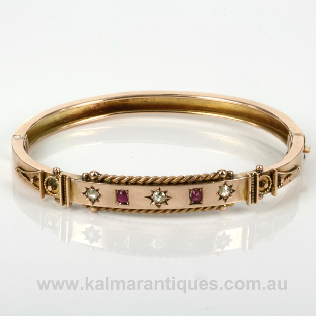 9ct. rose-gold bangle