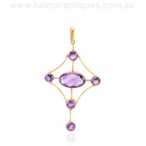Antique amethyst pendant made in the early 1900's