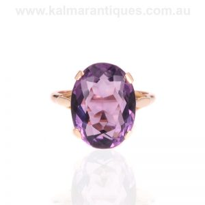 Vintage 8.80 carat amethyst ring made in the 1960's