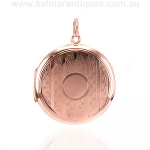 Antique 9 carat rose gold locket made in 1911