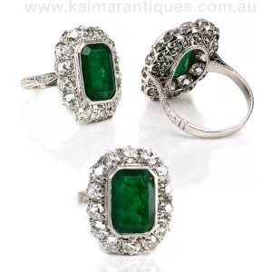 Antique emerald and diamond ring Sydney