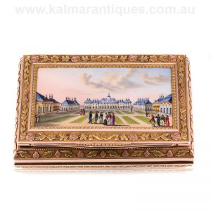 18 carat gold enamel case made in the 1860's