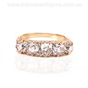 Antique diamond engagement ring from the Victorian era
