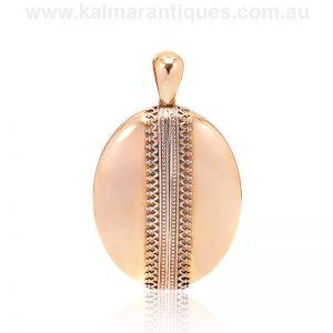 Antique Victorian era 15 carat gold locket made in the 1880's