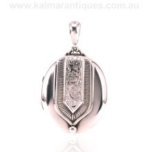 Antique sterling silver photo locket made in the 1890's