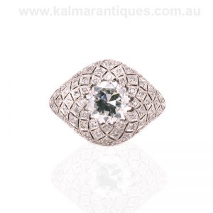 Magnificent Art Deco diamond ring made in the 1920's
