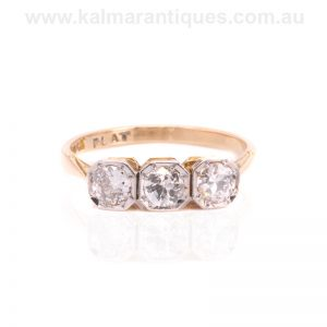 Hand made 1930's Art Deco era diamond engagement ring