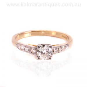 Art Deco diamond engagement ring dating from the 1930's