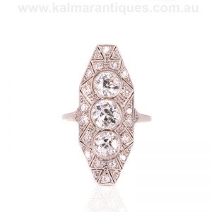 Spectacular Art Deco diamond ring that was made in the 1920's