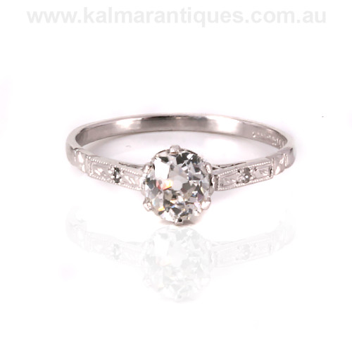 Art Deco diamond engagement ring Sydney