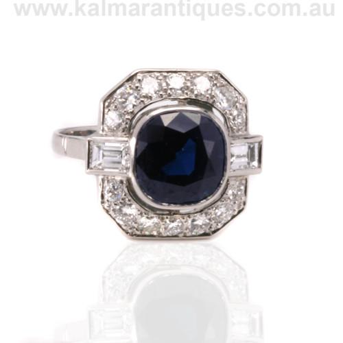Art Deco sapphire and diamond ring Sydney