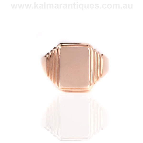 Art deco rose gold signet ring dating from the 1920 39 s for Deco maison rose gold