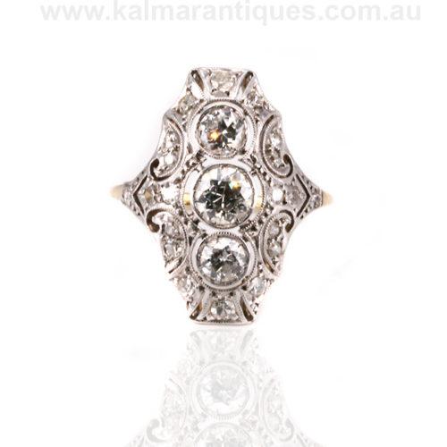 Art Deco diamond wedding ring Sydney