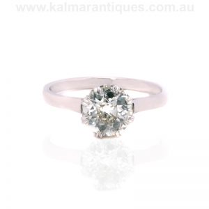 Platinum Art Deco diamond engagement ring dating from the 1920's