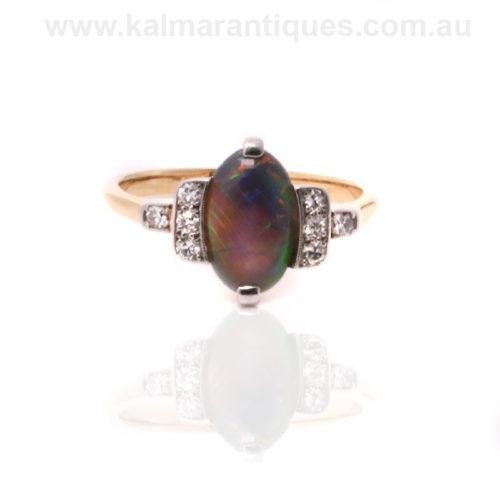 Art Deco opal and diamond ring Sydney