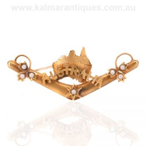 Antique Australia brooch made by Willis