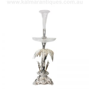 Rare antique Australian sterling silver centrepiece made in 1870 attributed to Julius Schomburgk.
