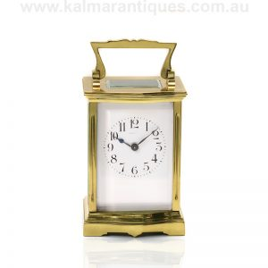 Antique carriage clock made in France in the 1890's