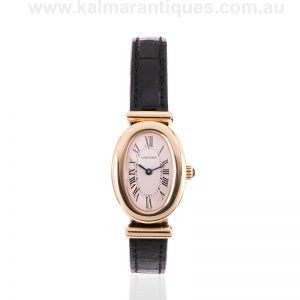 Very rare ladies Cartier Baignoire Bi-plan hidden clasp watch reference 2290