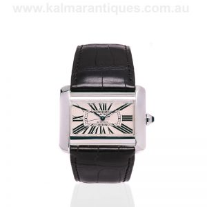 Stainless steel Cartier Tank Divan automatic watch reference 2612