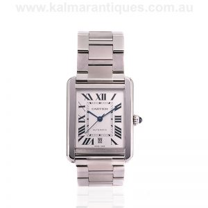 Automatic Cartier Tank Solo XL with box and papers