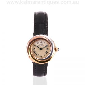 Ladies Cartier Trinity 2735 Vermeil watch with deployant clasp
