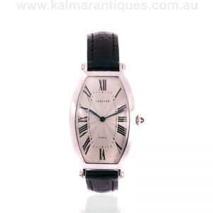 Gents platinum Cartier Tonneau watch reference 1098