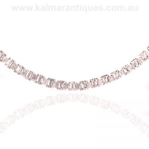 Antique sterling silver collar made in the Victorian era of the 1890's