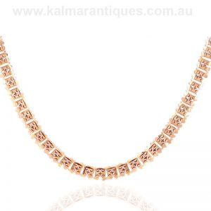 Antique rose gold collar made in the late Victorian era