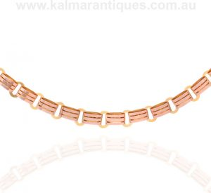Rose and yellow gold antique collar made in the 1880's