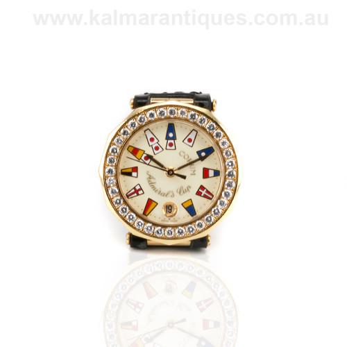 Ladies diamond Corum admirals cup watch 39.910.65V85