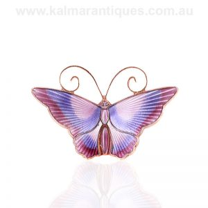 Beautiful mauve and purple butterfly by David Andersen