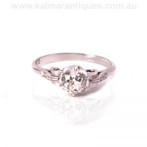 18ct diamond engagement ring set with an antique diamond