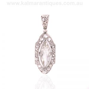 Art Deco diamond pendant made in France in the 1920's