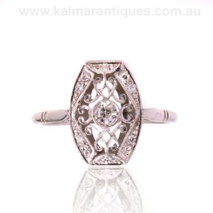 18ct French Art Deco diamond ring made in the 1920's