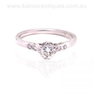 18 carat white gold vintage diamond engagement ring